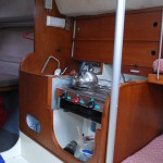 ...and the galley sits to starboard