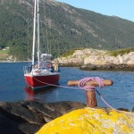 Anchoring Norwegian style in Sognefjord