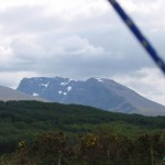 Snow on Ben Nevis from the Caledonian Canal