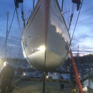 Vlad the Impala have removed 35 years and 30kgs of old antifouling, and looking much better!