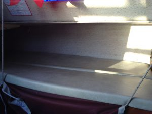 Port side top bunk cushions