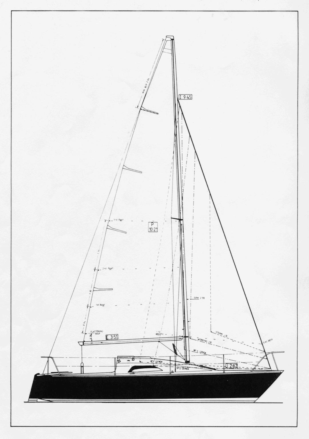 Impala 28 Sail Plan