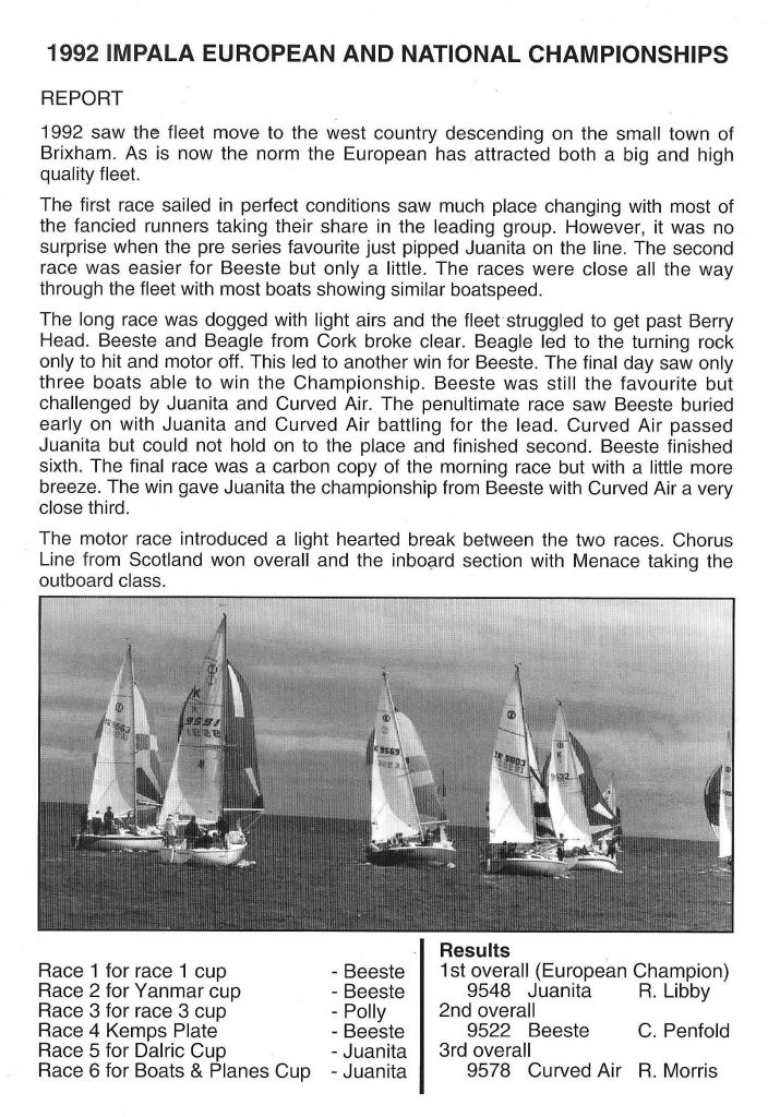 Brixham 1992 Report